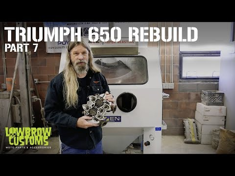 Triumph 650 Motorcycle Engine Disassembly & Rebuild part 6