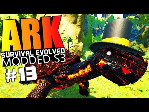 ARK Survival Evolved - FAIL WARDEN FIGHT, RESOURCE CROPS BADASS SPINO Modded #13 (ARK Mods Gameplay)