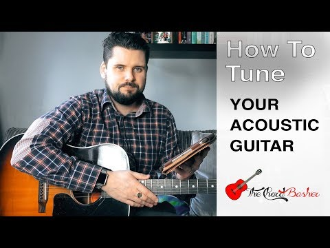 how-to-tune-an-acoustic-guitar-without-a-tuner-//-how-to-tune-your-guitar-//-5th-fret-method-by-ear