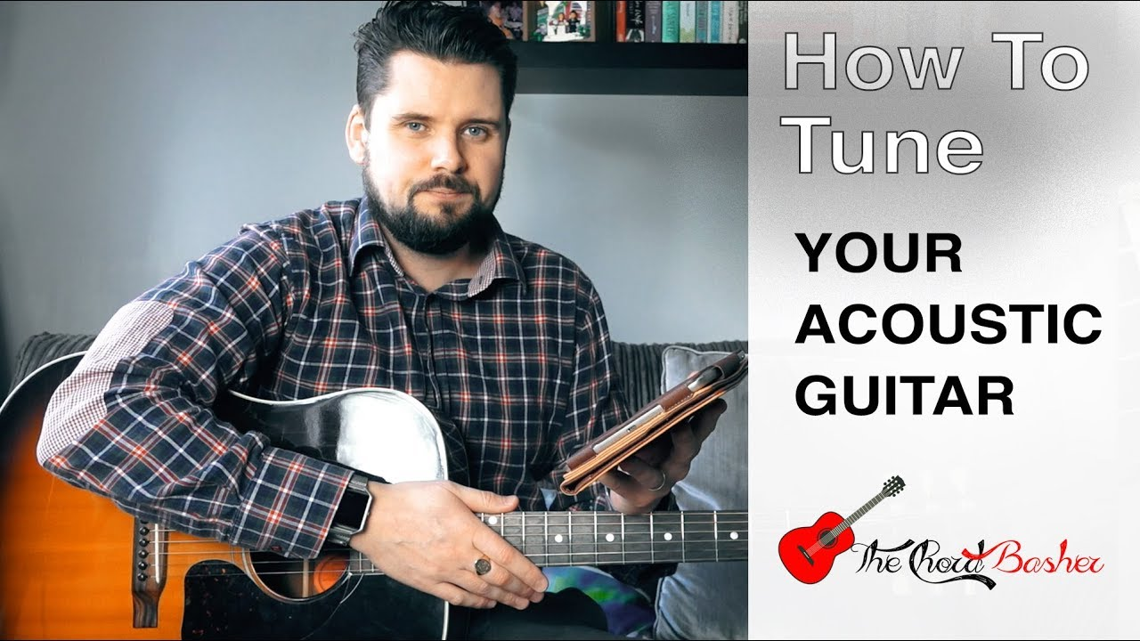 how to tune an acoustic guitar without a tuner how to tune your guitar 5th fret method by. Black Bedroom Furniture Sets. Home Design Ideas