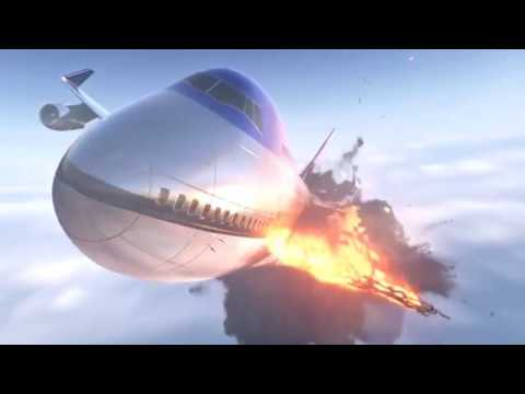 Houdini Fx - Airplane |Explosion and Destruction| R&D Render In Mantra