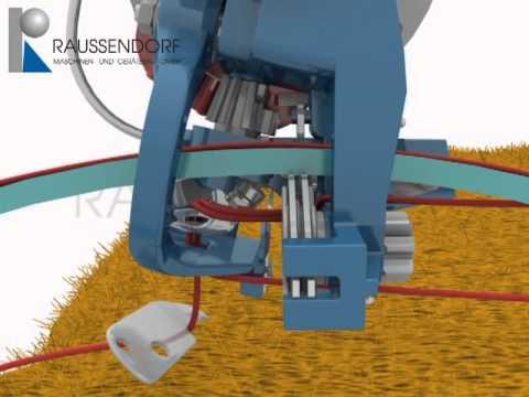 видео: Работа обвязывающего механизма