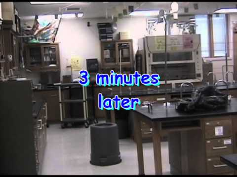 Dry ice disposal demo movie - YouTube
