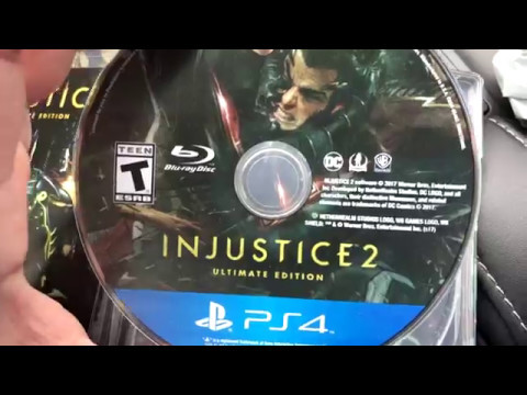 Unboxing Injustice 2 Ultimate Edition and Standard PS4