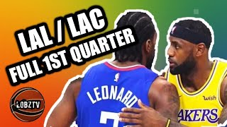 Los Angeles Lakers vs Los Angeles Clippers - Oct. 22nd - Full 1st Quarter! - 2020 NBA Season!