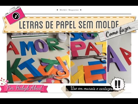 Letras para Mural: como fazer sem Moldes?