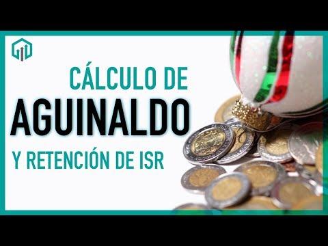 Cálculo de AGUINALDO 2020 y su retención de ISR