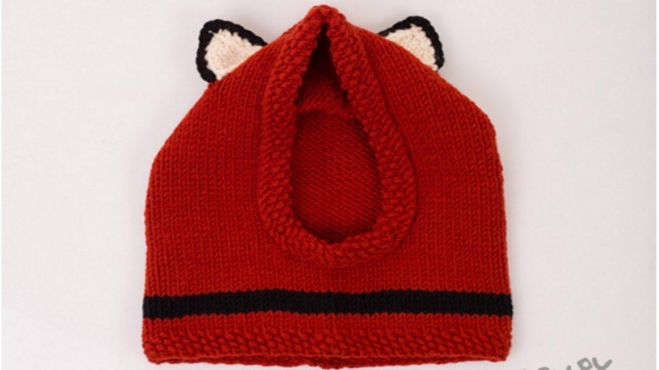 Как связать зимнюю шапку для ребенка 2 - 3 лет ( травкой, спицами .
