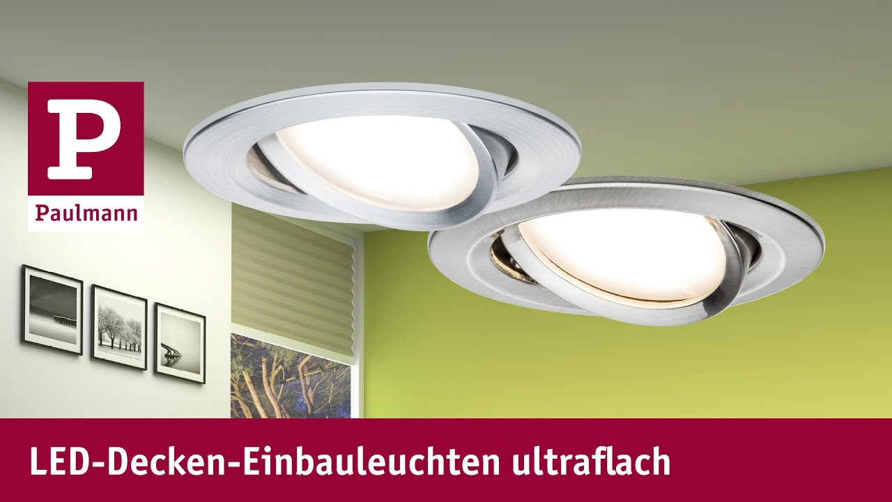 Led Spot Flach : led einbaustrahler ultraflach youtube ~ Watch28wear.com Haus und Dekorationen