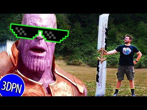 3D Printing A FULL SIZE THANOS SWORD From Avengers Endgame!