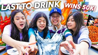 Siblings LAST TO DRINK WATER Challenge!! (Sobrang Spicy!) | Ranz and Niana