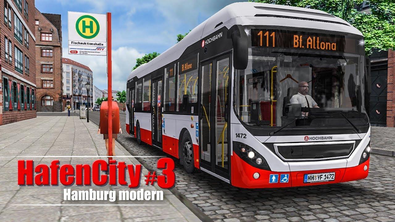 omsi 2 hamburg hafencity 3 durch die speicherstadt mit dem volvo 7900 h bus simulator. Black Bedroom Furniture Sets. Home Design Ideas