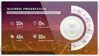 Comment Créer des parts de Marché, des Ventes, des Données, des Statistiques de Présentation Infographique dans Microsoft PowerPoint PPT