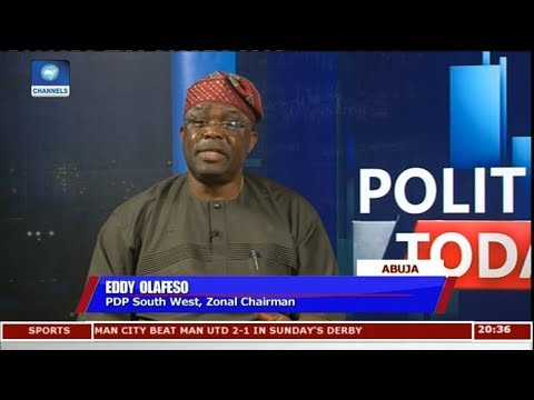 PDP Convention Not Marred With Irregularities - Eddy Olafeso Pt 1 | Politics Today |