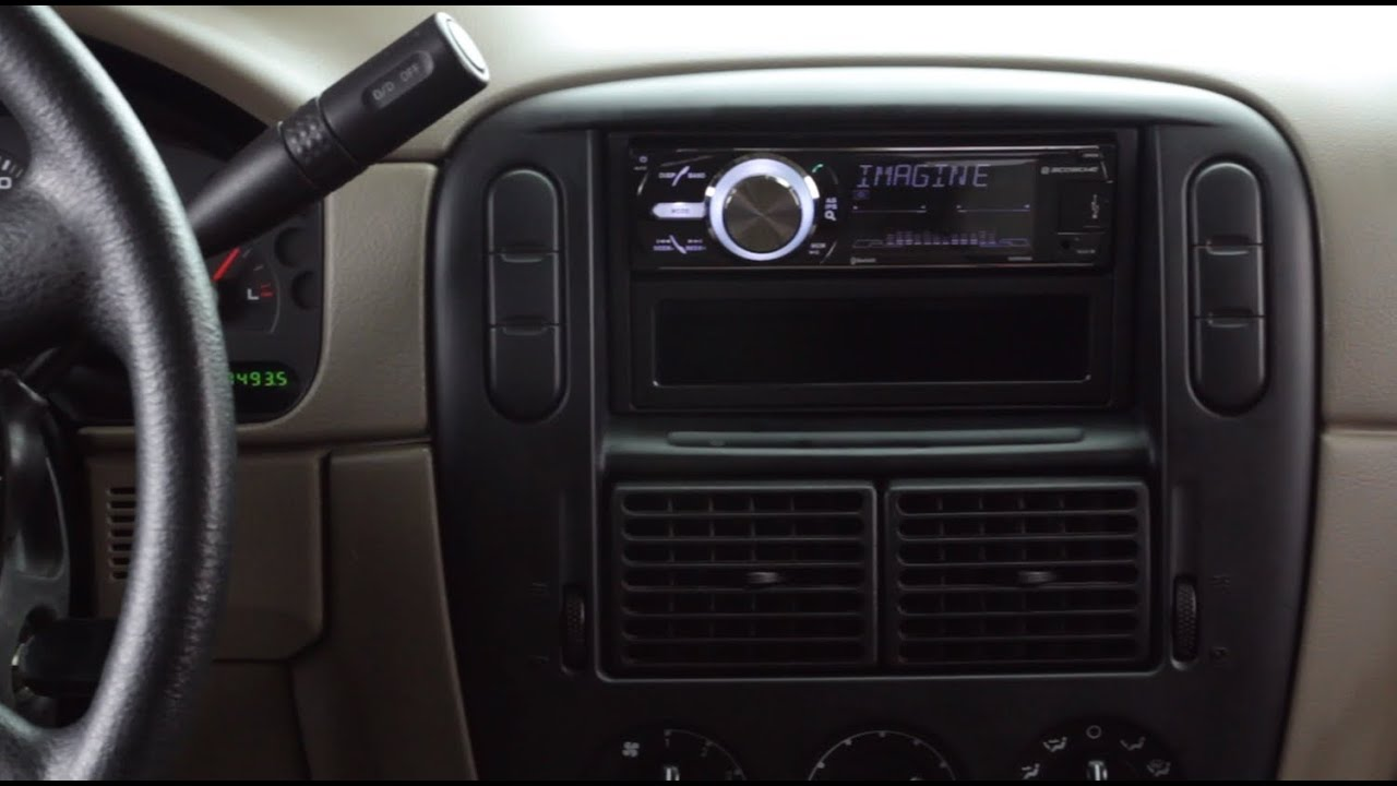 Basic installation of an aftermarket stereo into a ford vehicle youtube