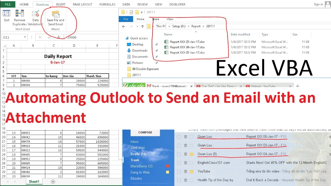 Excel VBA - Automating Outlook to Send an Email with an