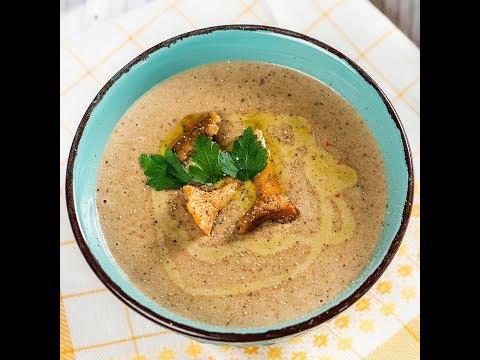 Supă cremă de cartofi și ciuperci
