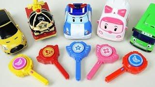 Poli Tayo Cars 로보카폴리 슈팅카 뽀로로 타요 헬로카봇 미니특공대 슈팅카 Robocar Poli, Tayo the little bus mini car toys