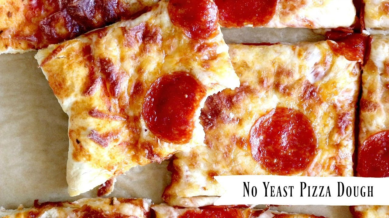 no yeast pizza dough recipe only 20 minutes start to finish youtube