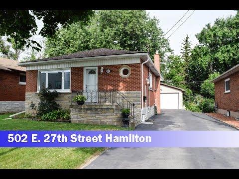 House For Sale 502 E. 27th Street Hamilton, Ontario