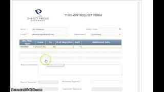 Human resources e-form workflow software