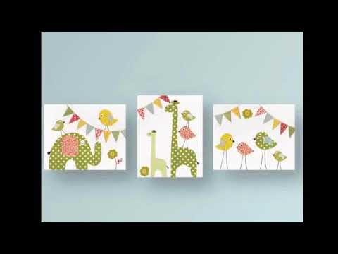 Nursery Wall Art - Nursery Wall Art Colorful Safari Decal Set | Interior Decor & Design