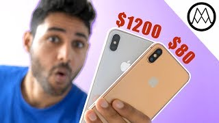 $1200 iPhone X vs INSANE $80 iPhone X Fake!