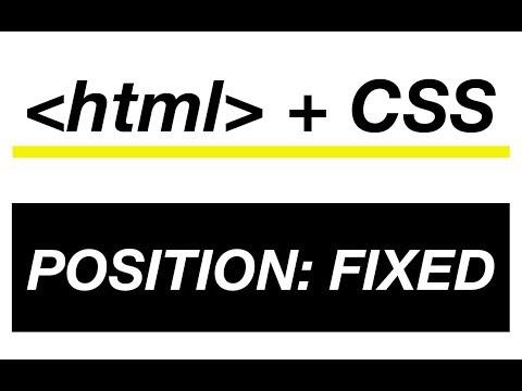 07-Position Fixed in html - Come diventare web designer - HTML + CSS