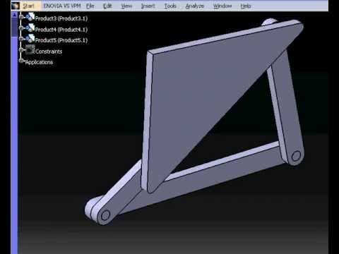 Four bar linkage simulation with Catia.avi - YouTube