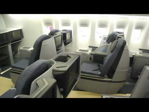 Continental Airlines New Business First Seats in a Boeing 777-200