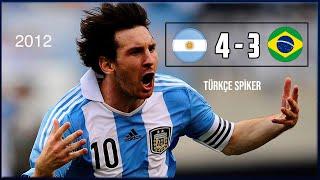 Arjantin 4-3 Brezilya   2012 Messi Şov! Türkçe Spiker