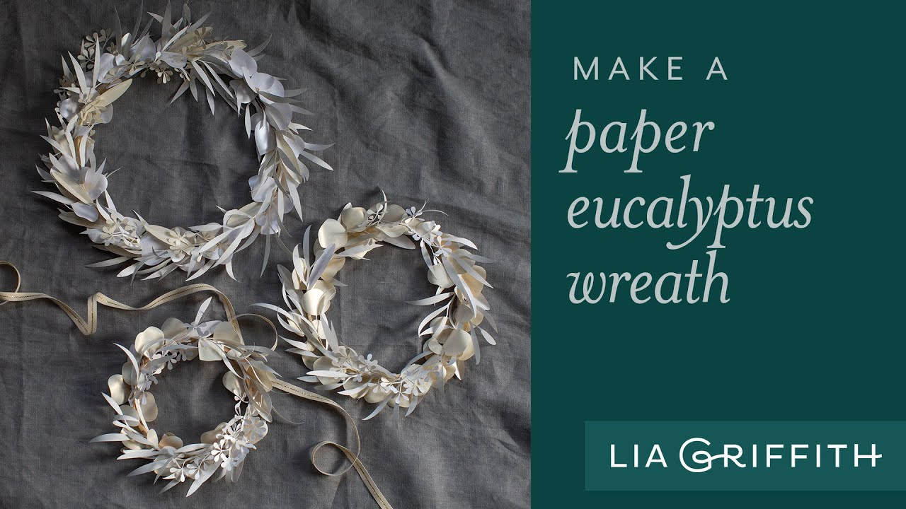 Video: Papercut White Eucalyptus Wreath