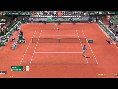 Tennis Elbow 2013 | Roland Garros 2017 | 1er Quart De Finale | Nadal vs Pablo Carreno Busta