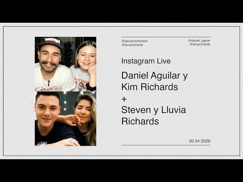 Daniel Aguilar Y Kim Richards Con Steven Y Lluvia Richards - #InstagramLive