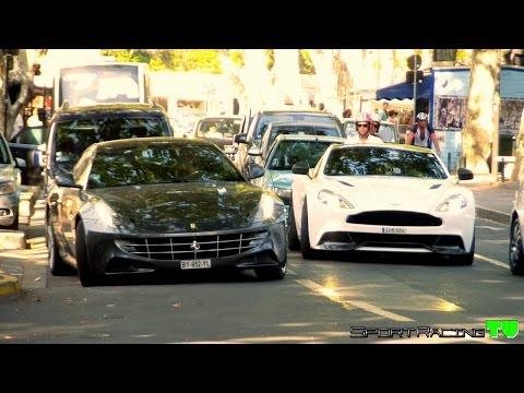 Exotic Cars & Supercars St Tropez 2015 (Vanquish 2015 Carbon, C63 AMG Coupé, Continental GTC TC ...)