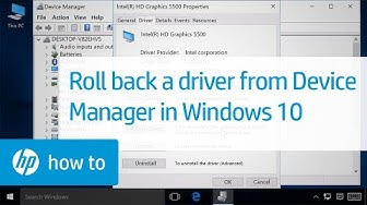 Rolling back a driver from Device Manager in Windows 10 | HP Computers | HP