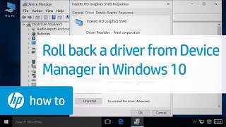 Rolling Back Driver From Device Manager In Windows