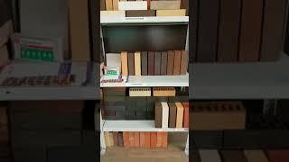 Выставка кирпича в офисе компании Загородный Дом