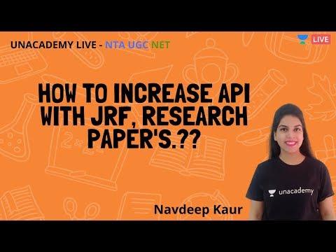 How To Increase API Score | NTA UGC NET | Unacademy Live - NTA UGC NET | Navdeep Kaur