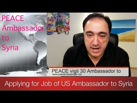 I Am Applying for Job of US Ambassador to Syria Can you SHARE? PEACE