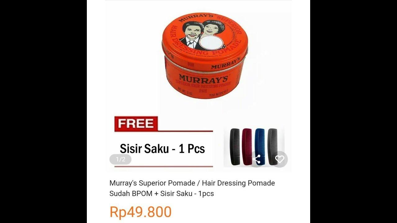 Pomade Murrays Superior Free Sisir Saku Cek Harga Terkini Dan Shantos Romeo Classic Oilbased Oil Based Hair Wax Minyak Rambut Dari Lazada Murah