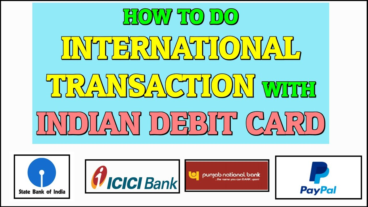 How to do International Transactions with Indian Debit Cards (SBI ...