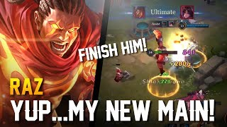 Strike of Kings: YUP...MY NEW MAIN!! Raz Gameplay