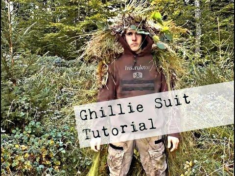 Ghillie Suit selber machen/  Tarnanzug / beweglich und gigantische Tarnwirkung !!!