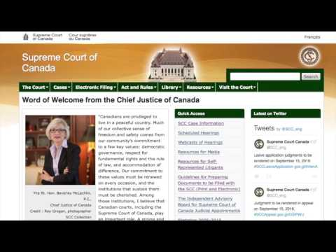 Supreme Court of Canada - Basics - Application for Leave to Appeal