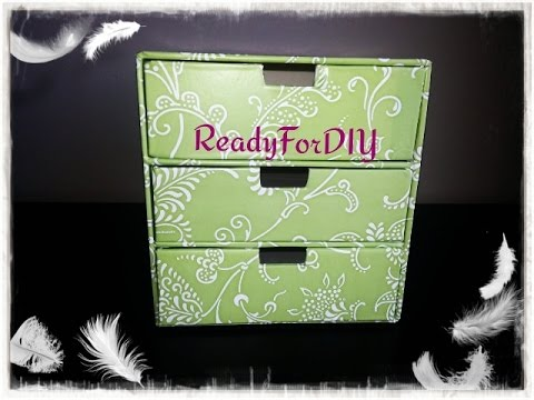 DIY 3 Drawer Makeup Jewelry Storage box Chest Box Organizer