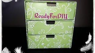 Diy 3 Drawer Cosmetics | Jewelry Chest Box Organizer - Under $5 Craft