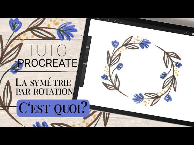 TUTO PROCREATE   La symétrie par rotation avec le guide de dessin