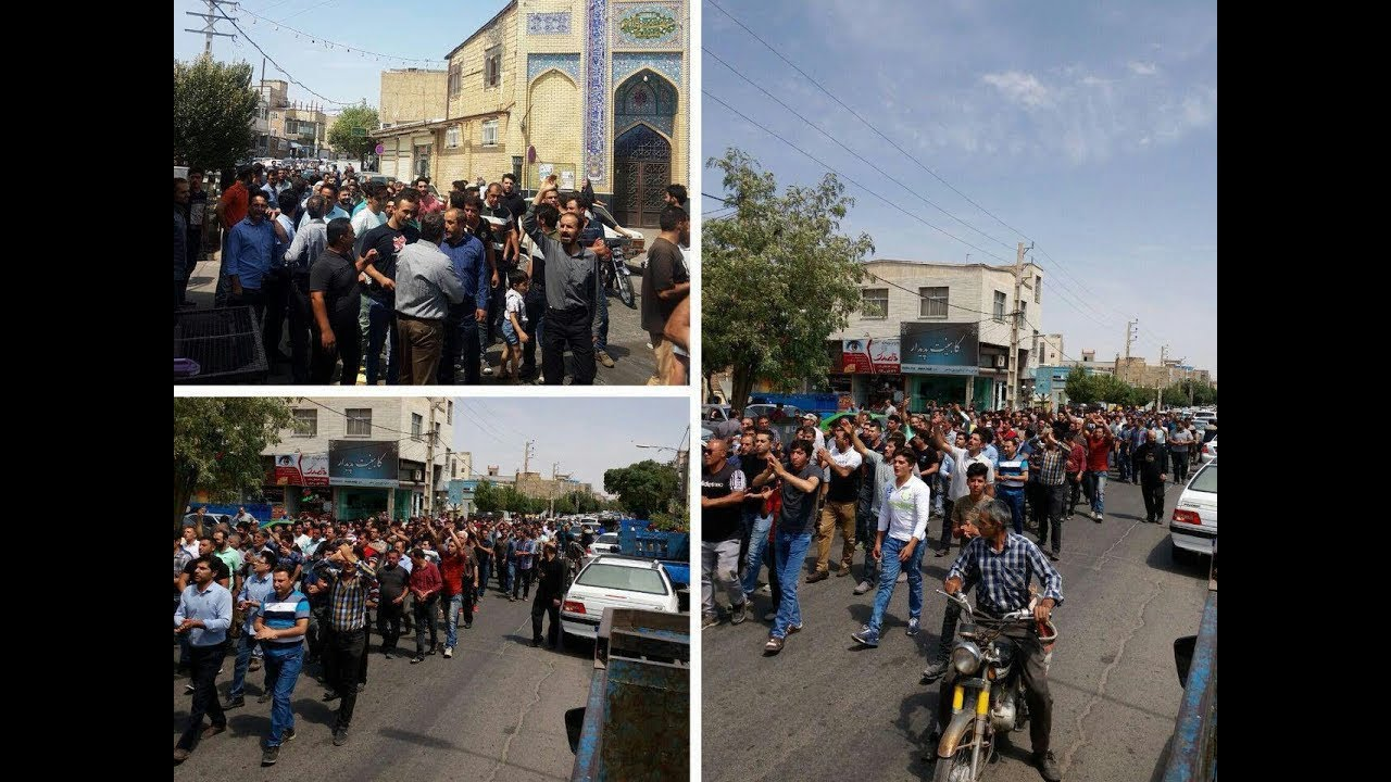 Scenes from the third day of protests against Iran's regime in Karaj on August 2