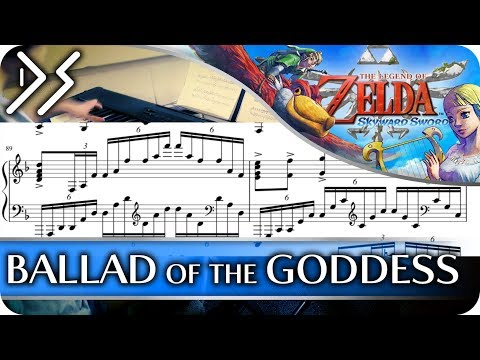 "Legend of Zelda: Skyward Sword - ""Ballad of the Goddess"" [Piano Sheet Music] 